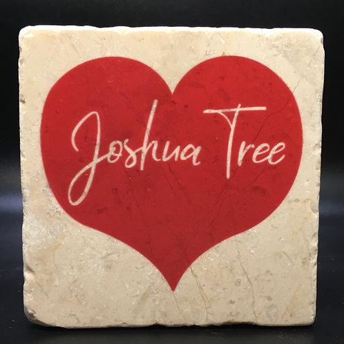 Joshua Tree Red Heart Word Coaster