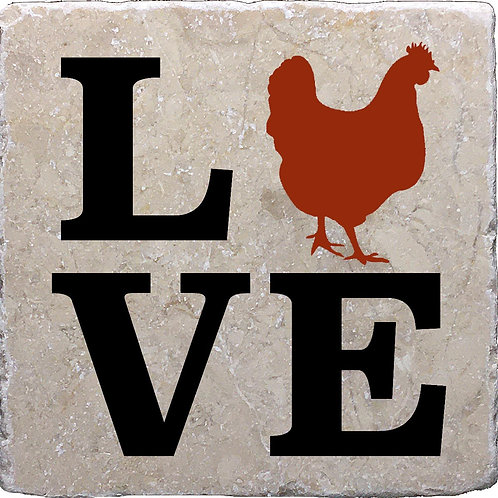 LOVE Chickens Coaster