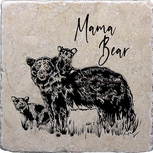 Mama Bear & Cubs Coaster