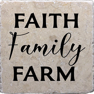 Faith Family Farm Coaster