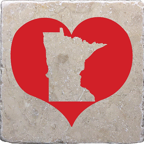 Minnesota Red Heart Coaster