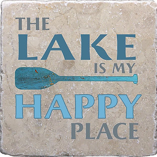 The Lake Is My Happy Place Coaster