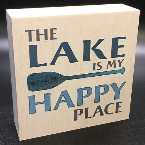 The Lake is my Happy Place Art Block