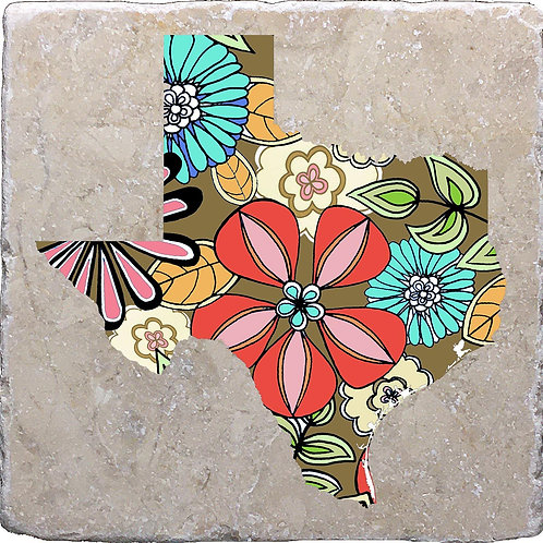 Texas Summer Flowers Coaster