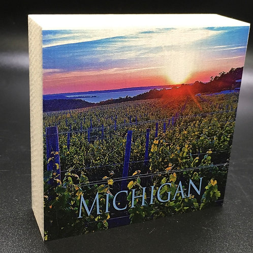 Michigan Vineyard Art Block