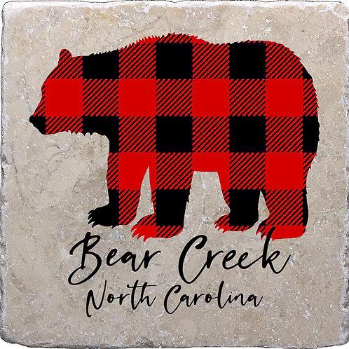 Buffalo Plaid Bear Creek Coaster