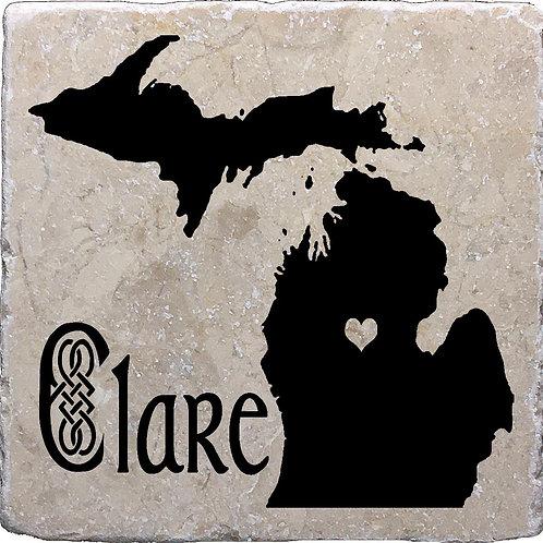 Clare Michigan Coaster