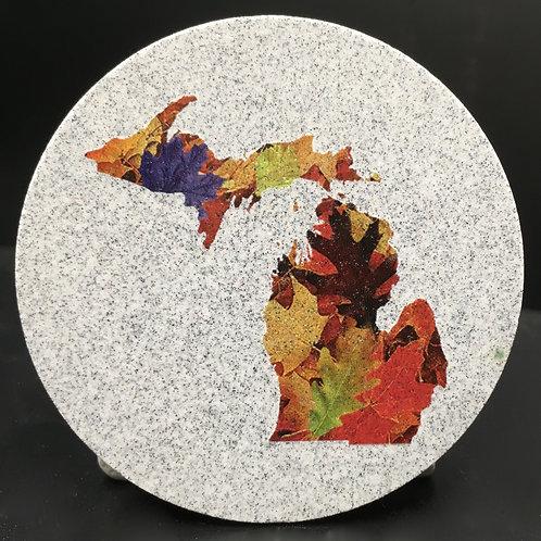 Car Coaster 2-Pack -Michigan Fall Colors
