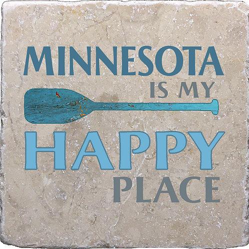 Minnesota is my Happy Place Coaster