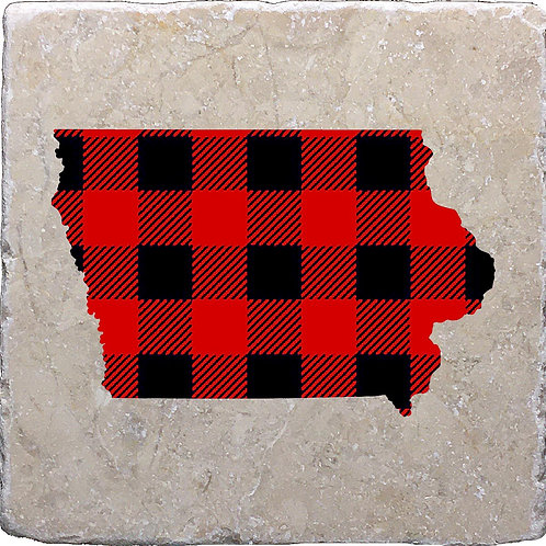 Iowa Buffalo Plaid Coaster