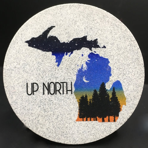 Car Coaster 2-Pack -Michigan Up North Twilight
