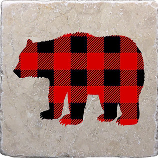 Bear (Buffalo Plaid) Coaster