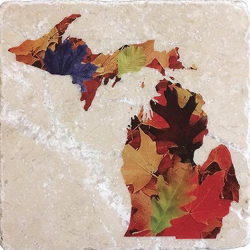 Michigan Fall Colors Coaster
