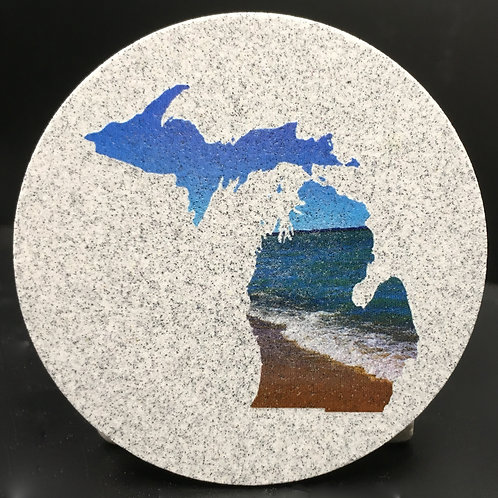 Car Coaster 2-Pack - Michigan Shoreline