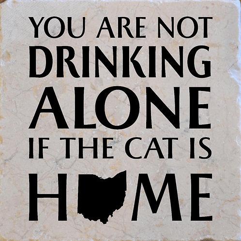 Drinking Cat Ohio Coaster