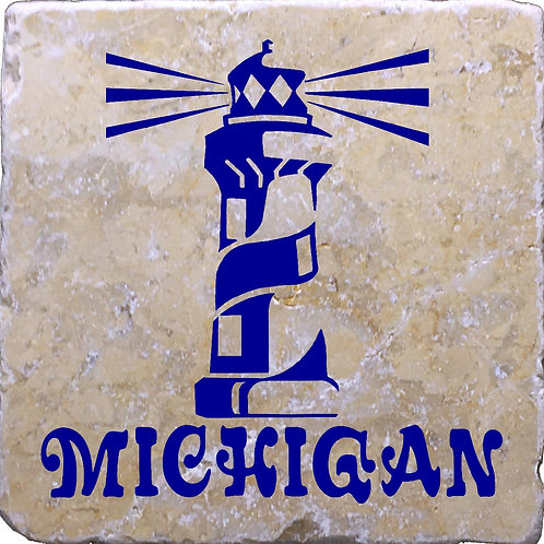 Michigan Lighthouse Coaster