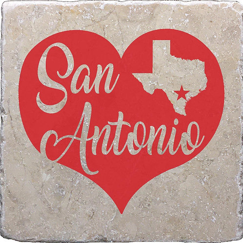 San Antonio Red Heart Coaster