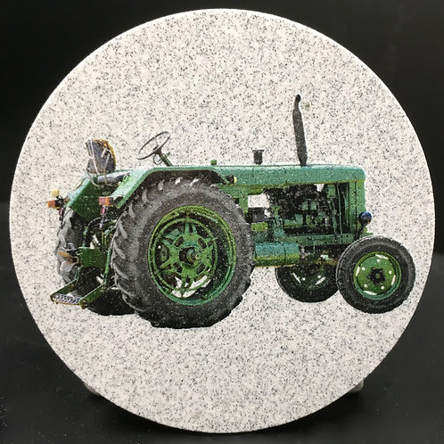 Car Coaster 2-Pack - Tractor Photo