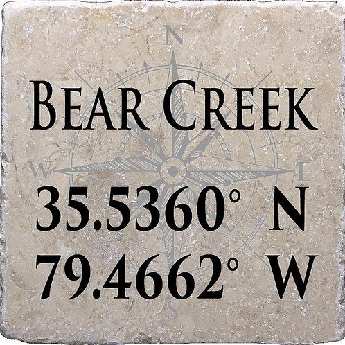 Bear Creek Coordinates Coaster