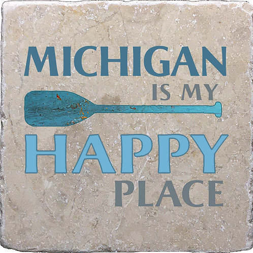 Michigan is my Happy Place Coaster