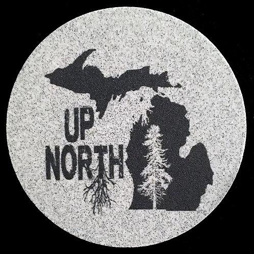 Car Coaster 2-Pack - Michigan Up North Tree Roots