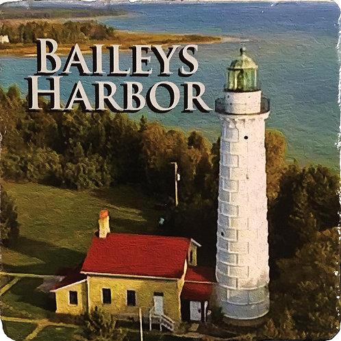 Baileys Harbor Lighthouse Coaster