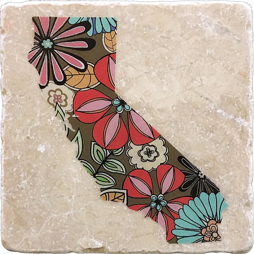 California Flowers Coaster