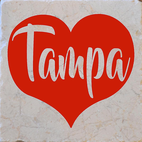 Red Heart Tampa Coaster
