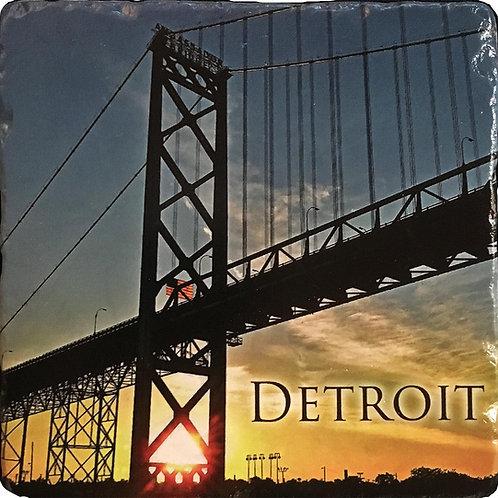 Detroit Ambassador Bridge Coaster
