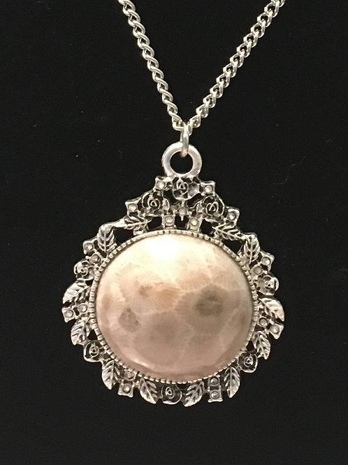 "Petoskey Stone Filigree ""Jane"" Necklace"