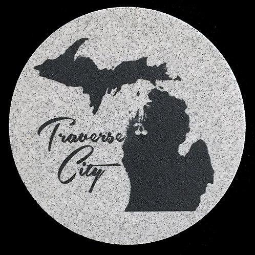 Car Coaster 2-Pack - Michigan Traverse City