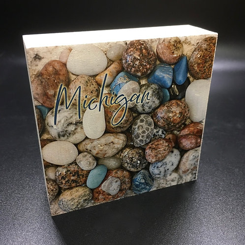 Michigan Rocks & Petoskey Stones Art Block