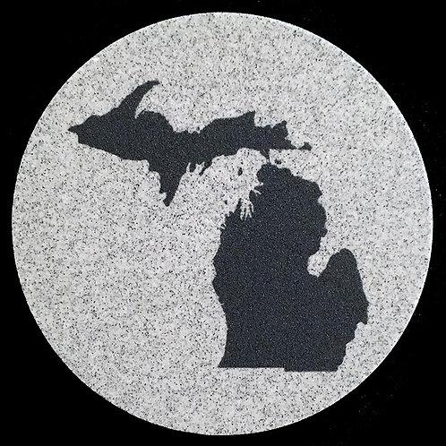 Car Coaster 2-Pack - Michigan Silhouette
