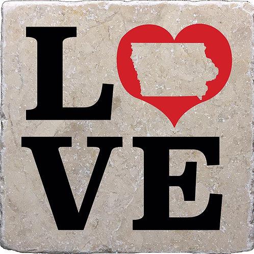 Love Iowa Coaster