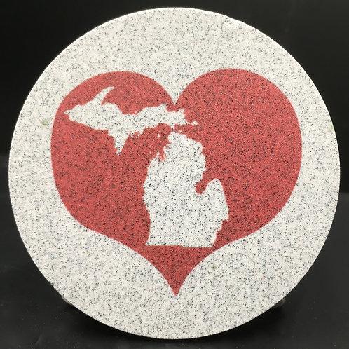 Car Coaster 2-Pack - Michigan Heart