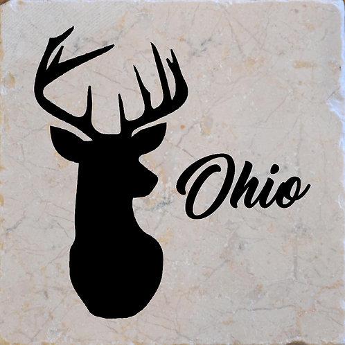 Ohio Buck Coaster