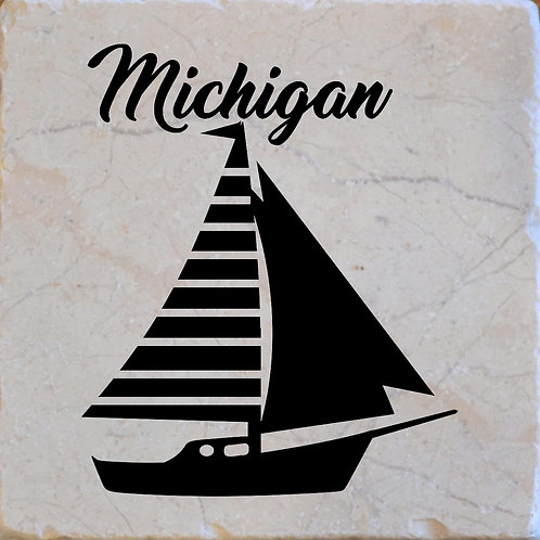 Michigan Sailboat Coaster