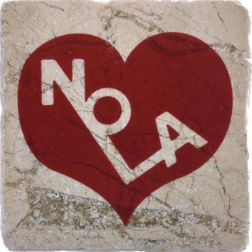 NOLA Heart Coaster by PopCity