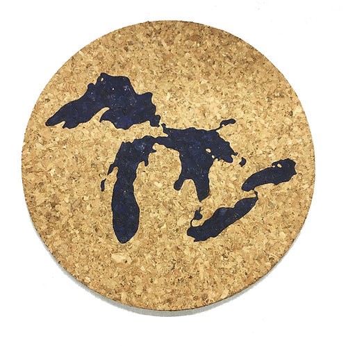 Great Lakes Cork Trivet or Coaster