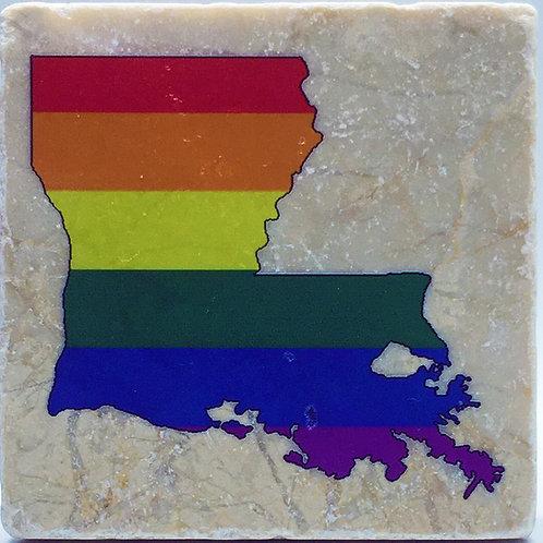 Louisiana Pride Coaster