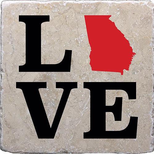 Love Georgia Coaster
