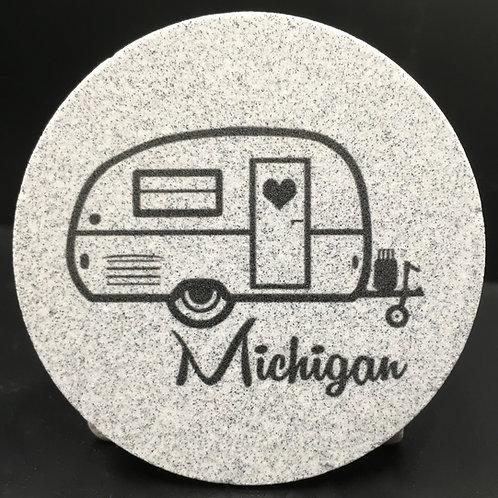 Car Coaster 2-Pack - Michigan Camper