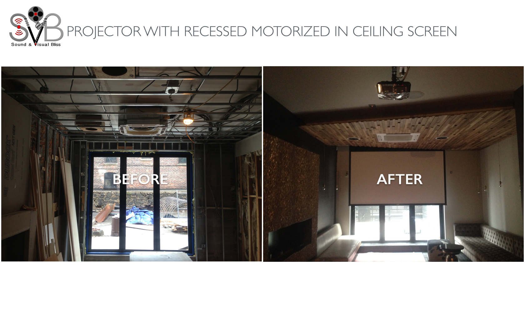 BAR & LOUNGE MOTORIZED IN CEILING SC