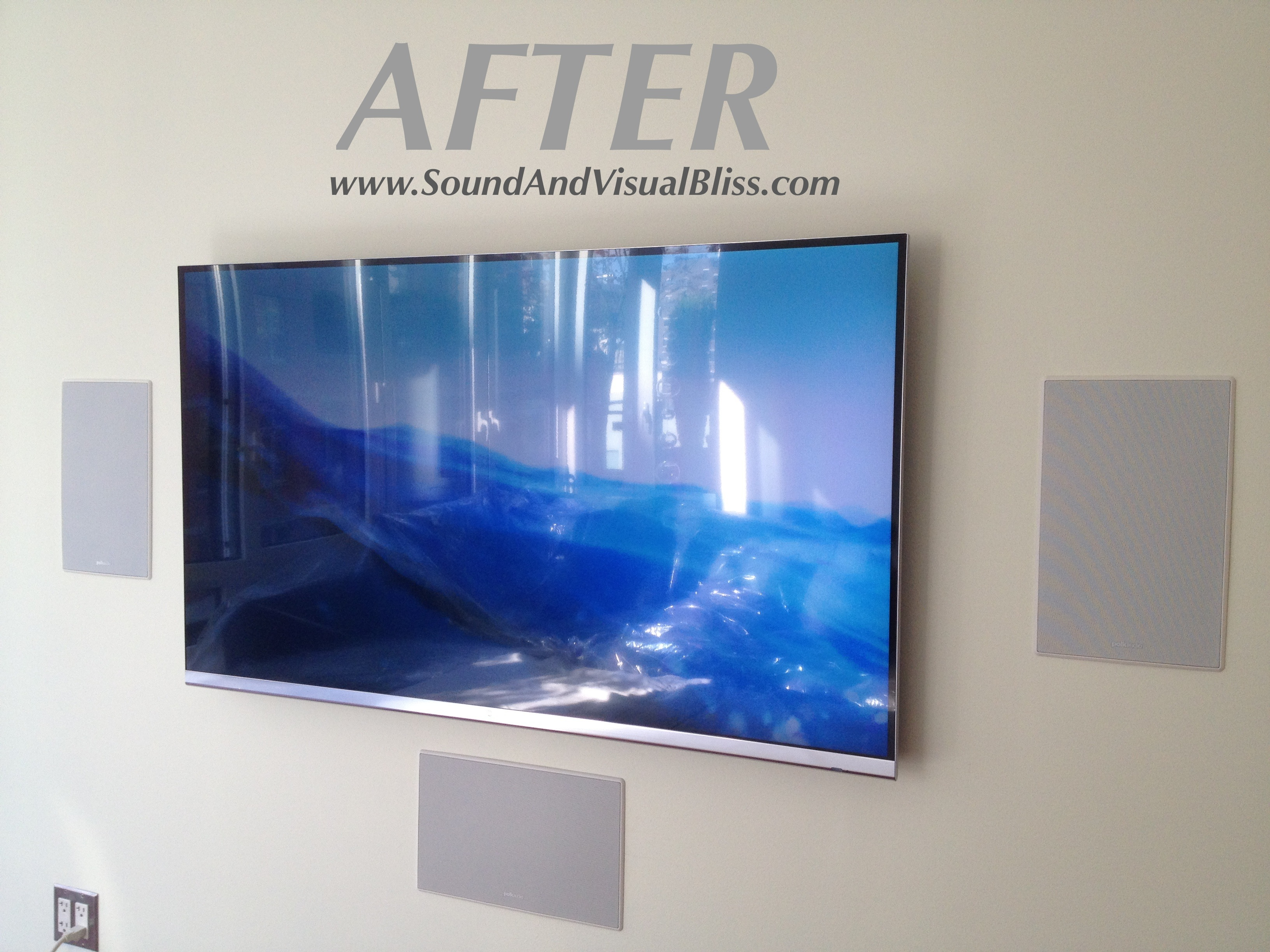 TV WITH IN WALL SPEAKER