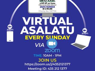 Sunday Asalatu to be held virtually