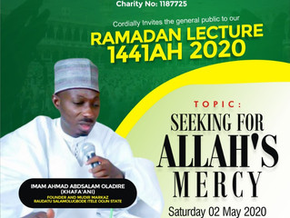 Invitation to our Ramadan Lecture