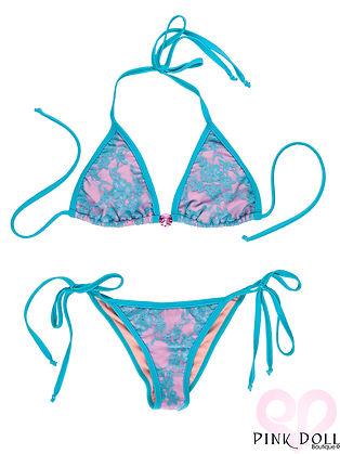 Ocean Turquoise Lace Gemstone Bikini