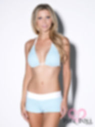 Baby Blue Polka Dot Short Set
