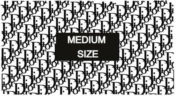 Medium Size- D Designer- Shoe Stencils