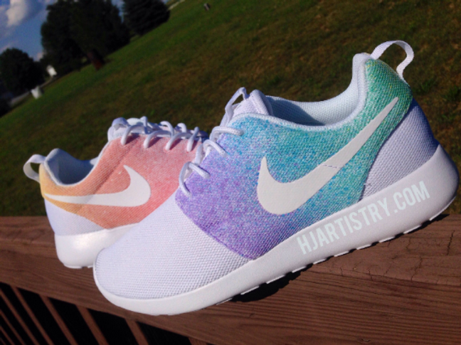 99d0202cebd Custom Nike Roshes- Pastel or Rainbow
